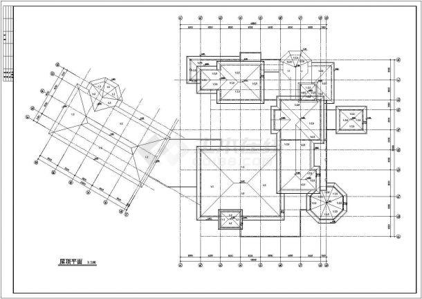 某地区地下1地上2层会所建筑设计方案图-图二
