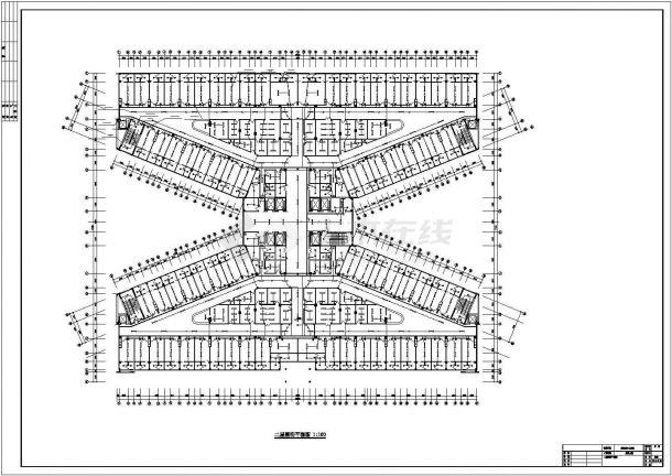 贵阳市某甲级医院5层外科大楼全套电气CAD设计图纸-图一