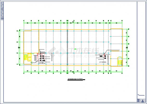 洁净厂房空调系统cad平面布置施工图纸-图一