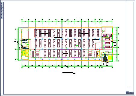 洁净厂房空调系统cad平面布置施工图纸-图二