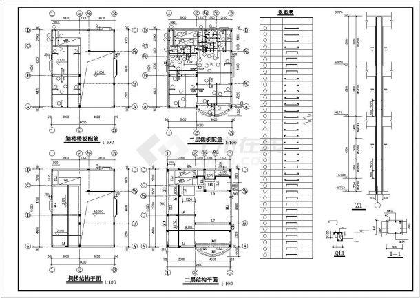 无锡某村镇300平三层砖混结构独栋乡村别墅建筑设计CAD图纸(含阁楼)-图一