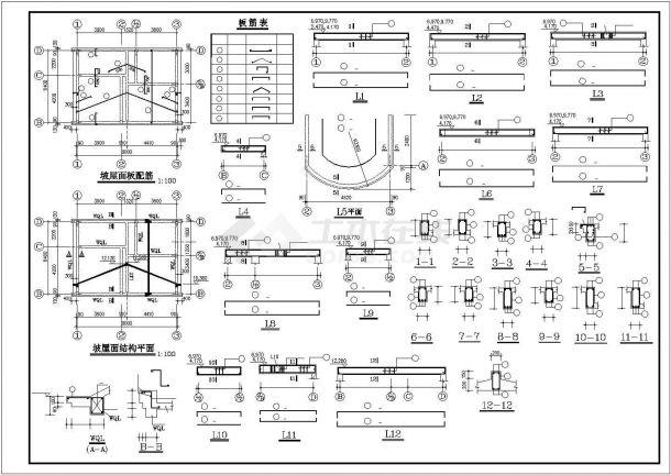 无锡某村镇300平三层砖混结构独栋乡村别墅建筑设计CAD图纸(含阁楼)-图二