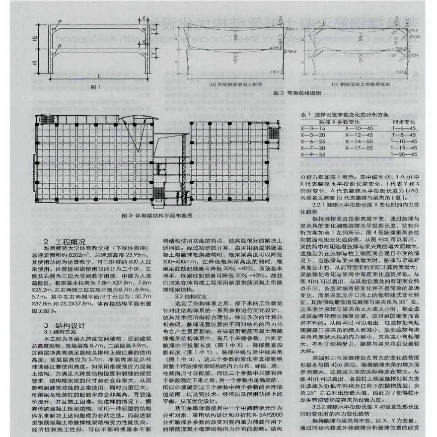 带腋撑钢筋混凝土框架结构优化设计-图二