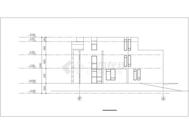 400平米三层砖混结构豪华中式私人别墅建筑设计CAD图纸(含地下室)-图一