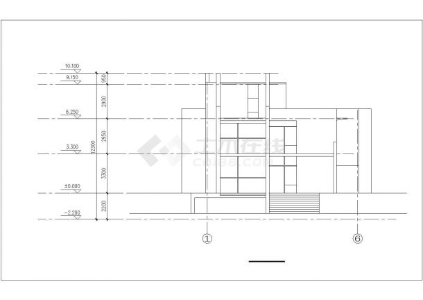 400平米三层砖混结构豪华中式私人别墅建筑设计CAD图纸(含地下室)-图二