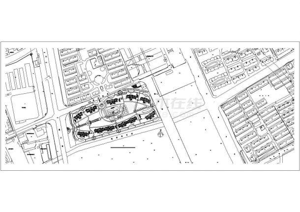 某奥体中心小区设计CAD完整全套方案总图-图一