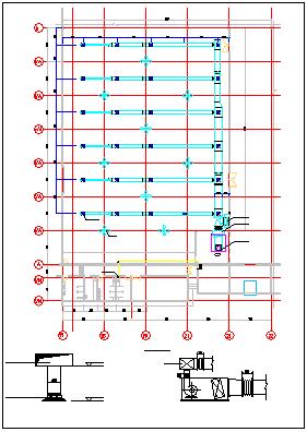 某仓库空调全套cad施工设计图纸-图二