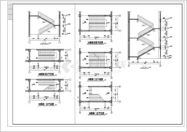 商业综合楼CAD建筑设计施工图-图一