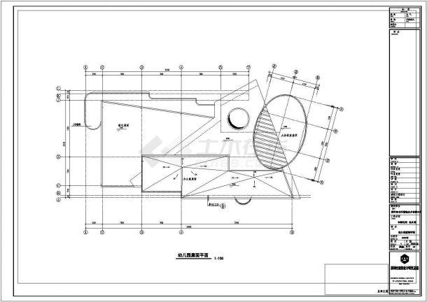 深圳市某地三层幼儿园CAD建筑设计施工图-图一