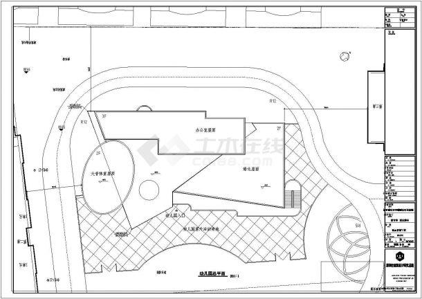 深圳市某地三层幼儿园CAD建筑设计施工图-图二