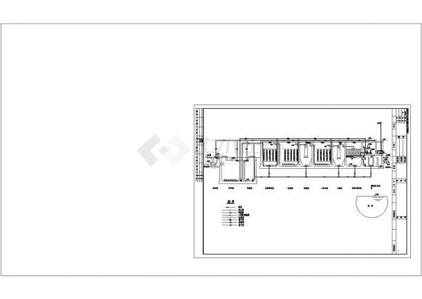 某小区生活污水处理设计全套CAD建筑设计施工图-图二