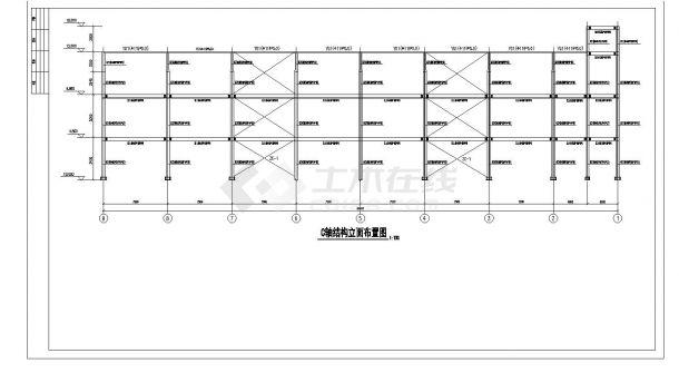 某办公楼钢框架结构设计图CAD参考详图-图一