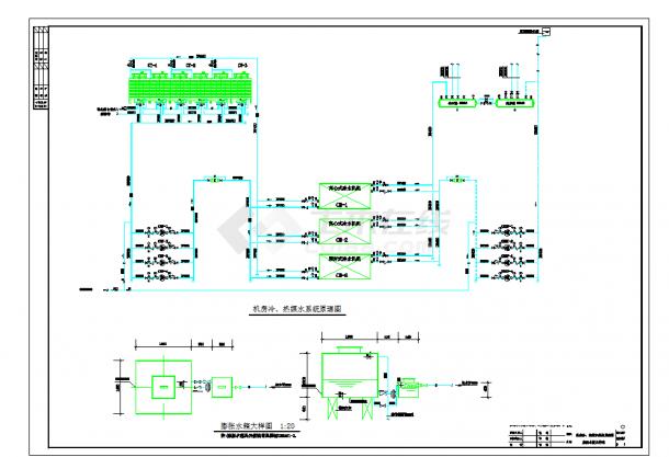 某五金建材商场水系统、通风及排烟系统全套施工图纸(含效果图)-图一