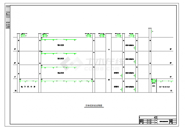 某五金建材商场水系统、通风及排烟系统全套施工图纸(含效果图)-图二