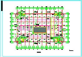 某大型商业建筑结构CAD设计施工图纸-图一