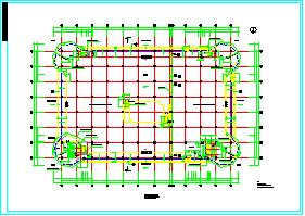 某大型商业建筑结构CAD设计施工图纸-图二