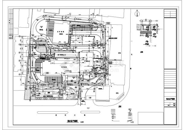 高层办公楼给排水设计cad图纸,含施工说明-图一