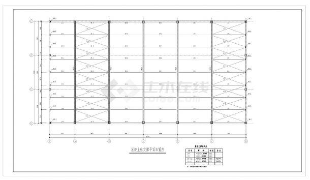 某城市房屋管桁架钢结构屋盖设计图CAD参考详图-图一