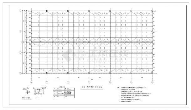 某城市房屋管桁架钢结构屋盖设计图CAD参考详图-图二
