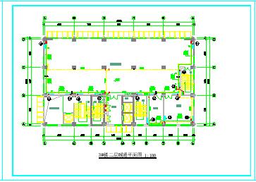 某高层住宅楼采暖防排烟cad设计施工图节点图纸-图一