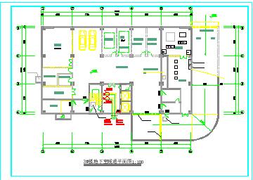 某高层住宅楼采暖防排烟cad设计施工图节点图纸-图二