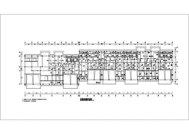 某地六层砖混住宅楼施工设计图纸-图一
