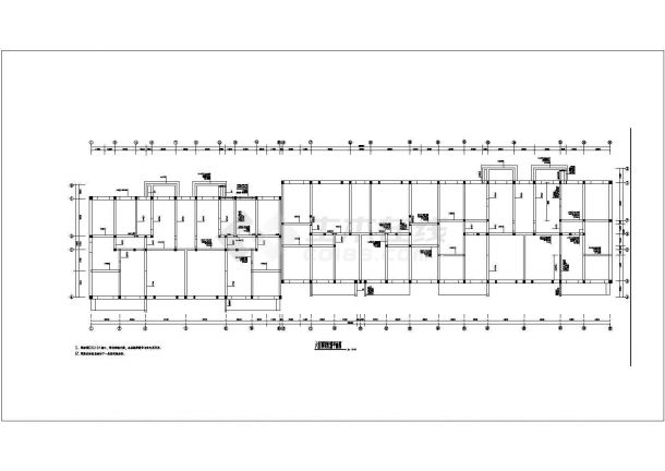 某地六层砖混住宅楼施工设计图纸-图二