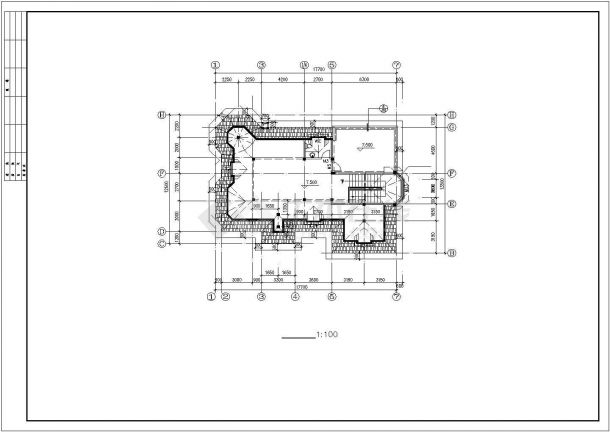 贵阳市某村镇2层砖混结构单体别墅建筑设计CAD图纸(含天面层和夹层)-图一