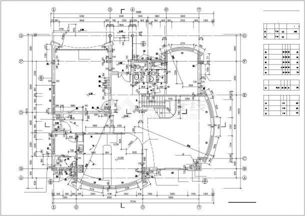 蚌埠市某村镇2层混合结构私人乡村别墅建筑设计CAD图纸(含架空层)-图二