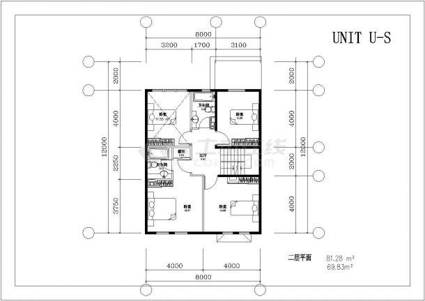 240平米2层单体简约型别墅平面设计CAD图纸(含地下室/2套方案)-图一