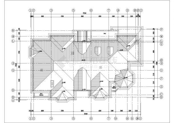 690平米2层框混结构独栋高档别墅建筑设计CAD图纸(2套方案)-图一