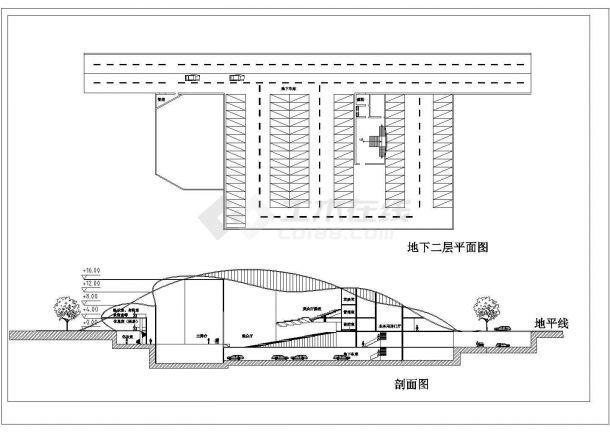 某电影院设计装修方案CAD图纸-图一
