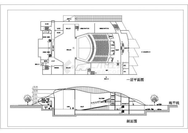 某电影院设计装修方案CAD图纸-图二