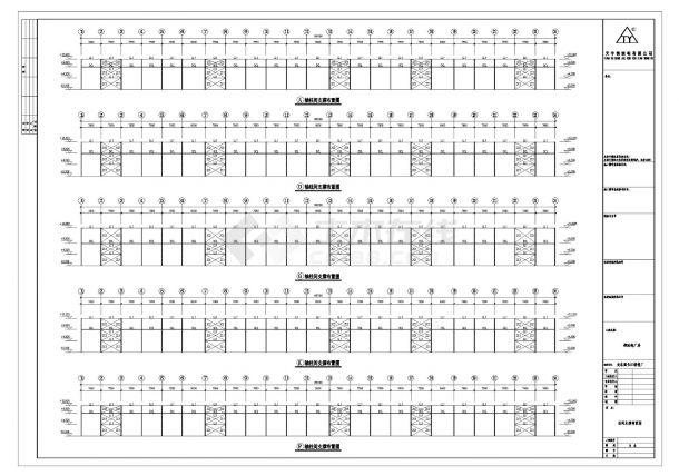 长江精密厂钢结构设计图CAD参考详图-图一