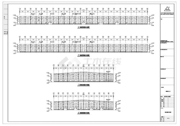 长江精密厂钢结构设计图CAD参考详图-图二