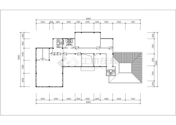衡水市朝阳花园小区多栋住宅楼建筑设计CAD图纸(含会所设计图)-图二