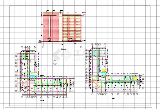 某地多层10441.17平米框架办公楼毕业设计(计算书、建筑、结构图纸)-图一