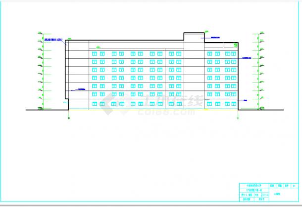某地多层8400平米综合办公楼毕业设计(含计算书,建筑、结构图纸,施组)-图一