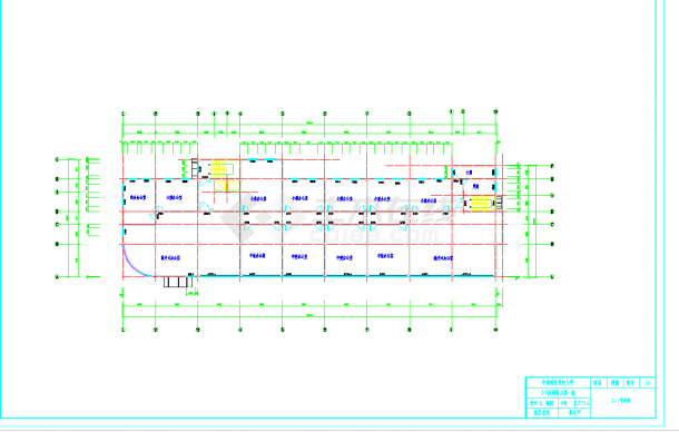 某地多层8400平米综合办公楼毕业设计(含计算书,建筑、结构图纸,施组)-图二