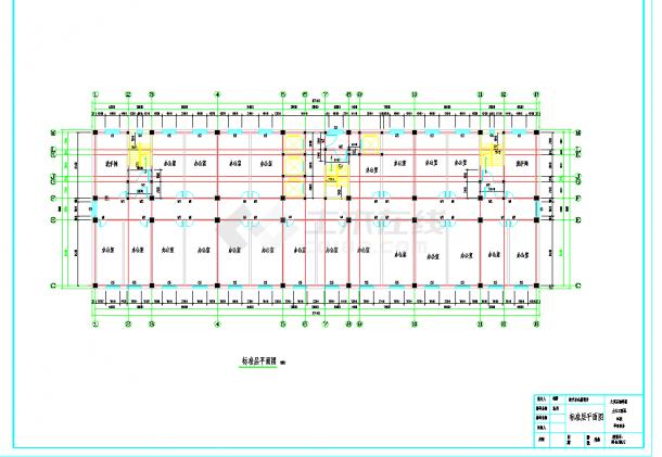 某地多层12880平米框架办公楼毕业设计(含计算书,部分建筑、结构图纸)-图一