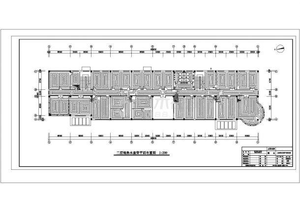 某公司办公楼空调采暖CAD建筑设计施工图-图二