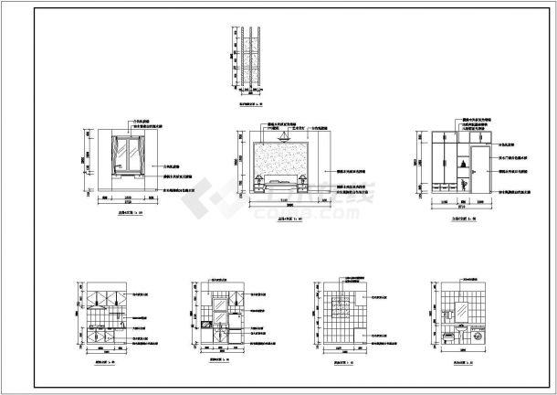 上海某新建小区110平米样板房全套装修施工设计CAD图纸-图一