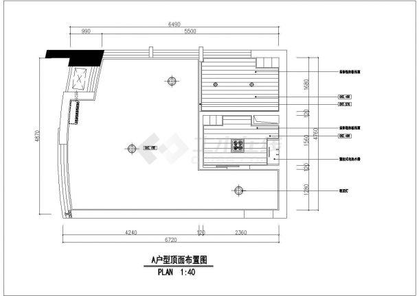 太原市某新建居住区100平米户型装修施工设计CAD图纸-图二