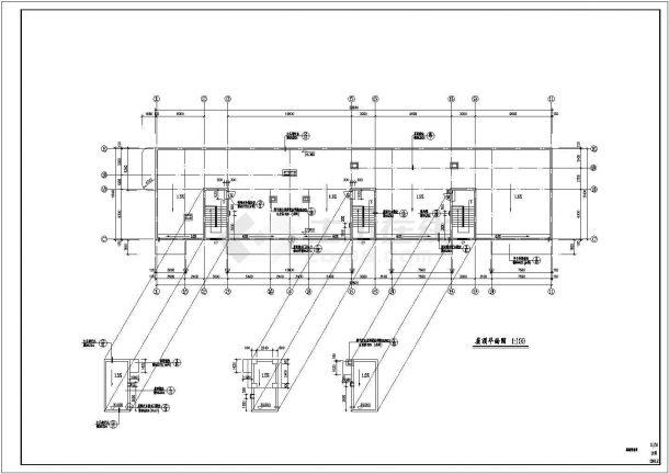 八层办公楼建筑设计方案图-图一