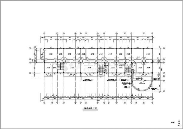 八层办公楼建筑设计方案图-图二