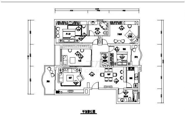 居装饰设计施工图案例设计图-图一