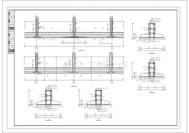 某地区底框五层住宅楼结构设计施工cad图纸-图二