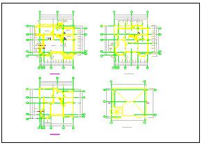 全套别墅结构设计施工方案cad图纸-图一