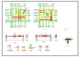 全套别墅结构设计施工方案cad图纸-图二