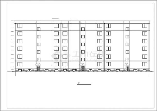 4730平米6层砖混结构住宅楼建筑设计CAD图纸(不含半地下室)-图二